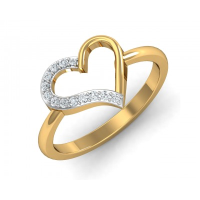 Amia Diamond Heart Ring